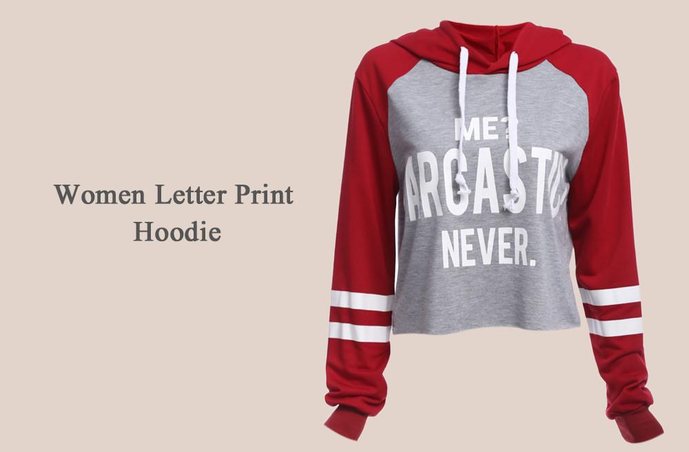VESTLINDA Hoodies Women Autumn Long Sleeve Hoodie Sweatshirt Women Fashion Letter Print Pullover Femme Casual Hoodied Tops 8