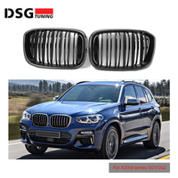 2 Slats Real Carbon Front Kidney Grill For BMW X3 X4 G01 G02 Racing Grille ABS xDrive20i xDrive30i 2018+