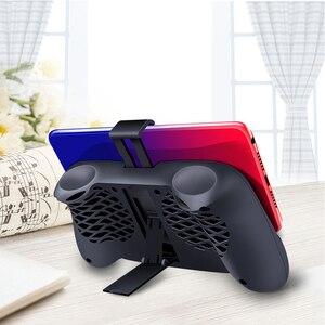 Image 5 - Handle Gamepad Controller Cooling Fan Mobile Phone Dual Cooling Radiator Smartphone 2000mAh Power Bank ventilador para movil
