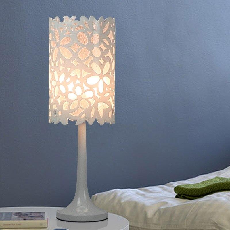 Nordic мода цветы Lanterna спальня огни прикроватные лампы простые современные лампы свадебные настольные лампы светодиодные ...