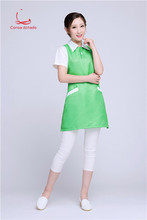 Beautician work clothes sleeveless apron Korean version of fashion manicure mother and baby shop waiter new style