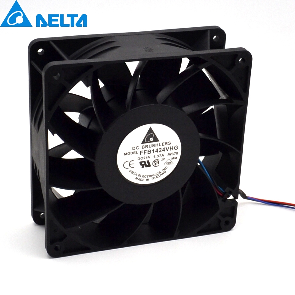 New FFB1424VHG 14050 14CM 24V 1.37A fan drive three-line winds fan for  140*140*50mm p 14050