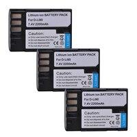 3Pcs 2200mAh D LI90 DLI90 D LI90 Digital Li ion Camera Battery For PENTAX K 7 K 7D K 5 K 5 II 645D K01 K 3 K 3 II 645Z L15