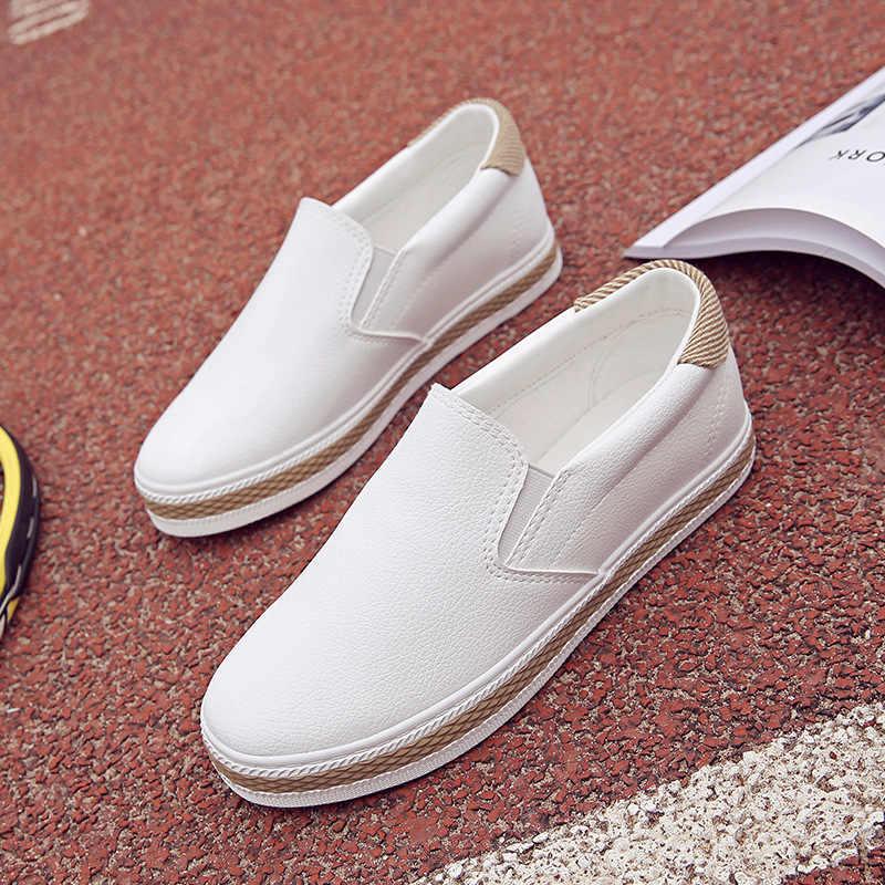 2019 primavera verano Zapatos Mujer diseño plano zapatos casuales comodidad mujeres Slip on Shoes señoras calzado Tenis Femenino