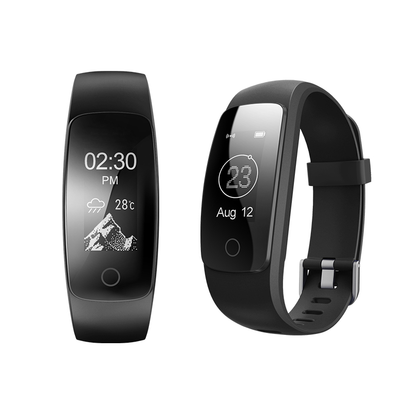 imágenes para ID 107 ID107 Más HR Inteligente Muñequera Actividad Gimnasio Pulsómetro Pulsómetro Rastreador GPS Inteligente Band Reloj del deporte probador