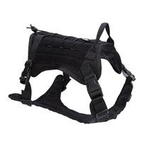 High Quality 1000D Nylon Outdoor Hunting Dog Vests Adjustable Military Tactical Dog Molle Vest Dog Training Vest Harness