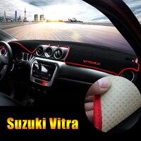 For Suzuki Vitara 4th 2015 2016 2017 2018 LHD Car Dashboard Cover Shading Mat Sun Shade Pad Carpet Interior Supplies Accessories