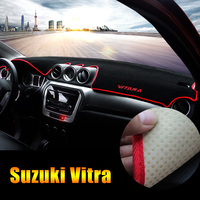 For Suzuki Vitara 4th 2015 2016 2017 2018 LHD Car Dashboard Cover Shading Mat Sun Shade Pad Carpet Interior Supplies Accessories