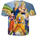 Summer style Fashion t shirt anime dragon ball Z SUPER SAIYA  print 3d t shirt men/women top tees plus size S-4xl