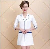 Long Sleeve Women/ White Medical Coat Nurse Services Uniform Medical Scrub Clothes White Lab Coat Hospital Doctor Clothes