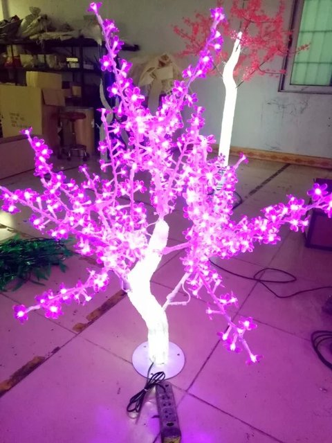 outdoor waterproof artificial 1 m led cherry blossom tree lamp 240leds pink christmas tree light for