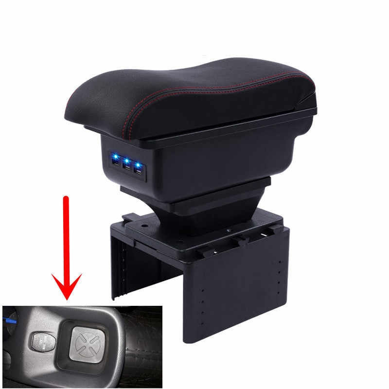 For Nissan Kicks armrest box central Store content box with cup holder ashtray Generic model 2017 2018 2019