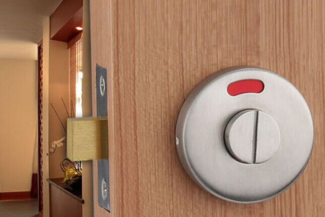 Bathroom Door Lock With Indicator - Bathroom Design Ideas