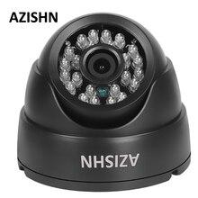 AZISHN Hot Selling 700tvl/1000TVL CMOS with IR-CUT 24IR night vision Color analog camera Indoor Security Dome CCTV Camera