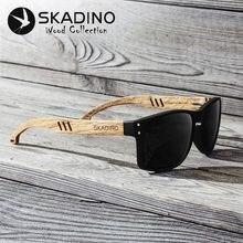10d4905733 SKADINO haya madera hombres gafas de sol polarizadas gafas de sol de madera  para las mujeres lente verde azul hecho a mano moda .