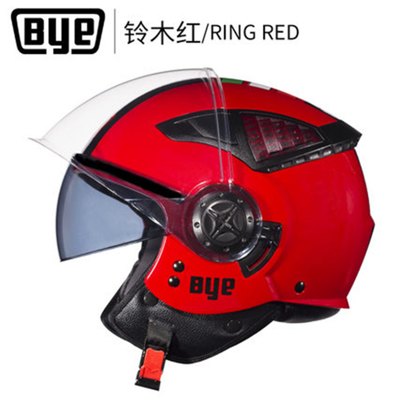 ECE Red color New Retro Vintage Motorcycle Helmet Chopper Scooter Synthetic 3/4 Open Face Four Season Moto Helmet DOT M L XL buck open season caper b0542bks