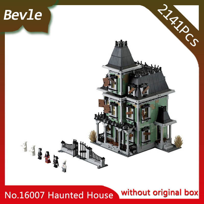 Bevle Store LEPIN 16007 2141Pcs Movie Series Monster fighter The haunted house Building Blocks Bricks For Children Toys 10228 bevle store lepin 22001 4695pcs with original box movie series pirate ship building blocks bricks for children toys 10210 gift