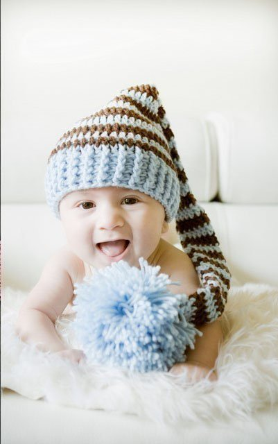 ac10eb49fda Lovely Cute Newborn Baby Crochet Knit Christmas Beanie Hat Boy New Blue Coffee  0-6Month 0-6 Month Handmade Free Shipping Gift