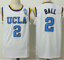 e15feff039b0 Ediwallen UCLA Bruins Basketball 2 Lonzo Ball College Jerseys Man Blue White  Yellow Stitched Color For