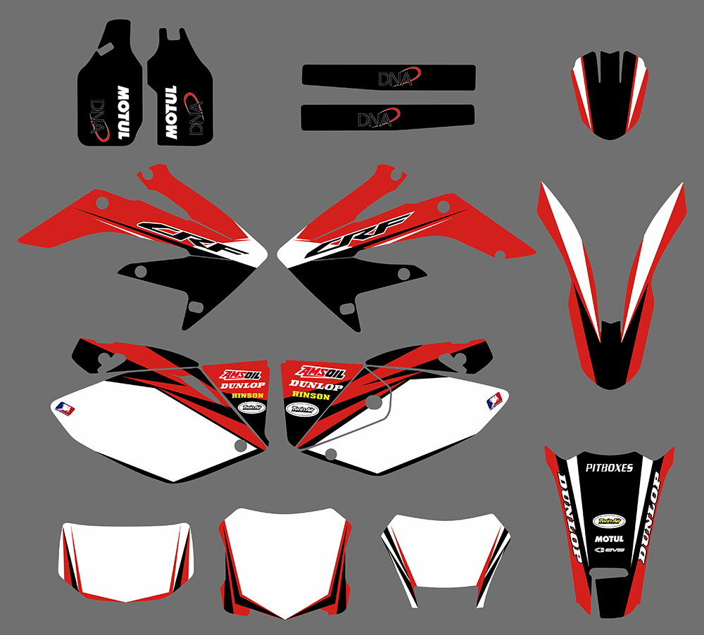 Team Graphic & BACKGROUNDS DECAL STICKERS For Honda CRF250X <font><b>CRF</b></font> <font><b>250X</b></font> <font><b>2004</b></font> 2005 06 07 08 09 2010 2011 2012 2013 2014 2015 2016 image
