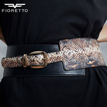 Fioretto New Arrival Women Genuine Leather Belts Fashion Serpentine Belts for Ladies High Quality Cowhide Belt