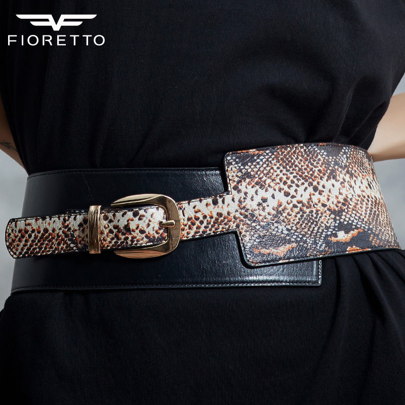 Fioretto New Arrival font b Women b font Genuine Leather Belts Fashion Serpentine Belts for Ladies