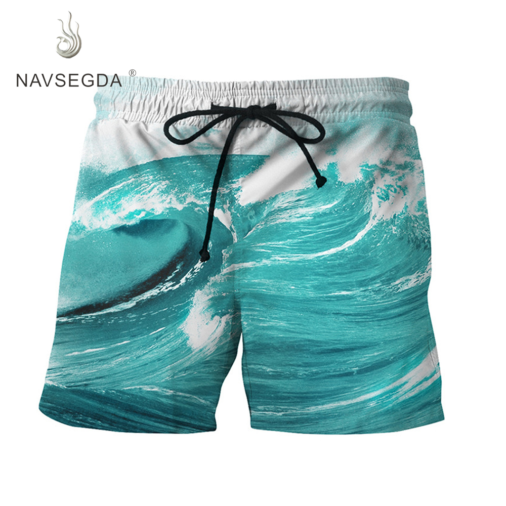 NAVSEGDA 2019 beach men   shorts   swimming bermuda masculina surf   board     shorts   sports beach pants homme quick dry for men
