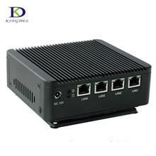 4 lan quad core mini pc с оперативной памяти ddr3 и msata ssd, 2USB, безвентиляторный mini pc bay след j1900 desktop pc palm pc