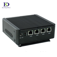 4 LAN Quad core Mini PC with DDR3 RAM and MSATA SSD, 2USB, fanless Mini PC bay trail j1900 Desktop PC Palm PC