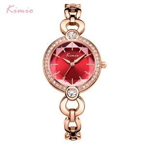 Image 2 - KIMIO Merk Dames Armband Horloges Voor Vrouwen Mode Kleine Wijzerplaat Horloge 2019 Top Merk Luxe Vrouwelijke Horloge Relogio Feminino