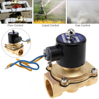 1 DC 12V Electric Solenoid Valve Brass Pneumatic Valve for Water / Oil / Gas