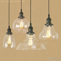 Loft do vintage luzes pingente de ferro forjado retro edison lâmpada pendurada industrial barra sala estar lâmpadas pingente cromo
