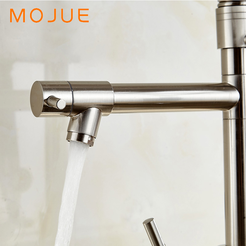 MOJUE Sink Faucet Flexible Kitchen Tap Dual Sprayers Swivel Spout Kitchen  Brass Faucets Water Mixer MJ8248 In Kitchen Faucets From Home Improvement  On ...