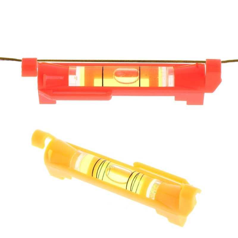 Пластиковая ручка уровень фото межкадровая линия уровень мини пузырьковый спирт уровень красный/желтый