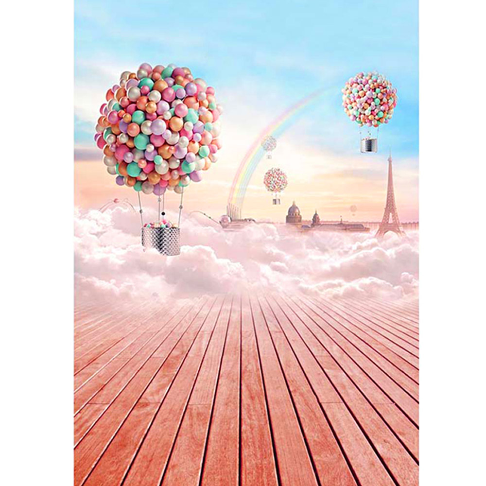 3x5ft Balloon Board Rainbow Photography Background Backdrop Studio Photo Props pvc soft glue furniture table foot round