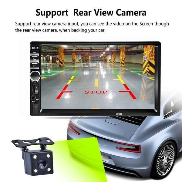 Mobil Radio 2 DIN Bluetooth Stereo Multimedia Player Autoradio MP3 MP5 Layar Sentuh Auto Radio Dukungan Kamera Rear View