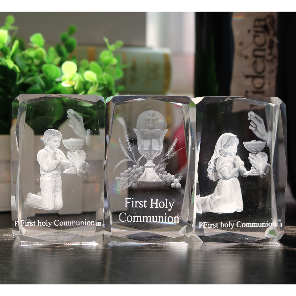Crystal Decoration For Catholic/Christian First Holy Communion Favor/Souvenir For Girls/Boys First Communion Gift/Present girl