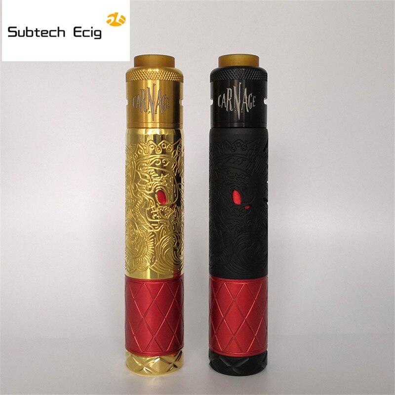 Newest Suicide king Mechanical Mod and carnage rda electronic cigarette kit 18650 20700 battery vaporizer vape kit