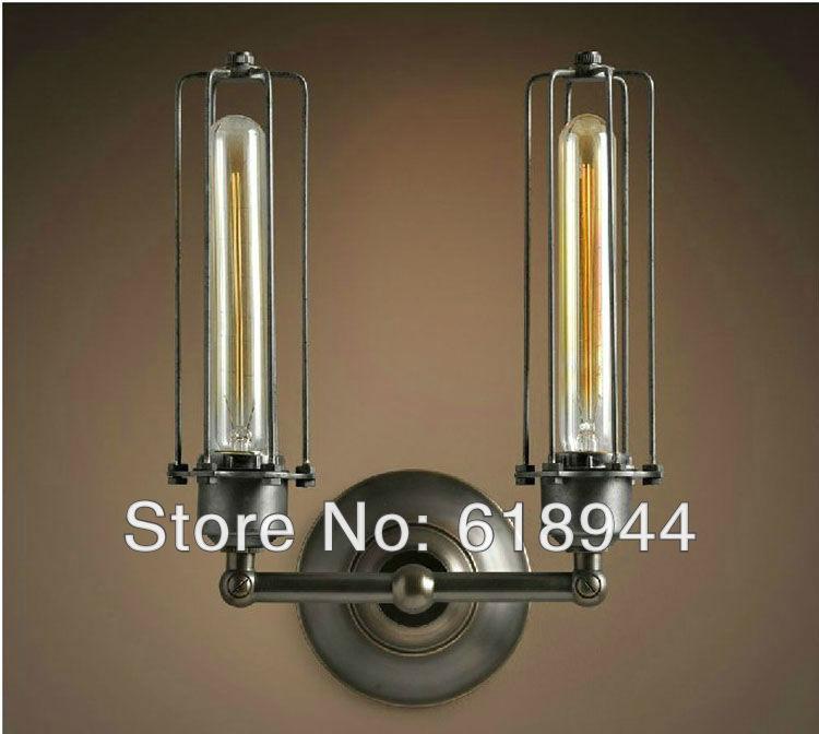 Фото Hot Selling Double Heads Vintage Style Edison Light Bulb Wall Lamp Antique Wall Lights for Home 110V-240V. Купить в РФ