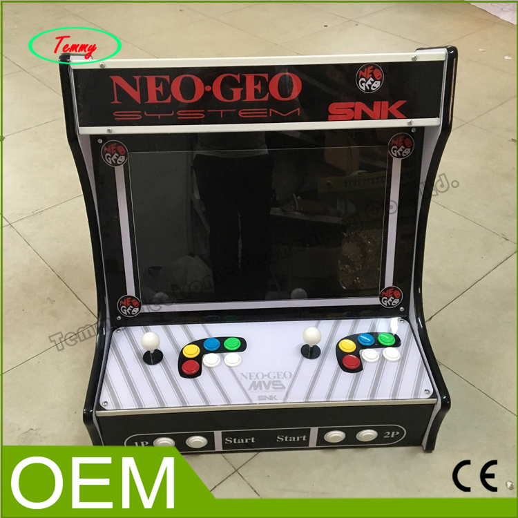 22 inch LCD Desk Arcade Game Machine with 645 in 1 game board/2 player/Stereo Speakers/Amplifier/Horizontal display