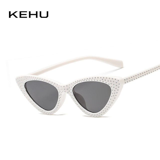 Online Shop KEHU Ladies Cat Eye Trendy Diamond-Studded Border Design ...