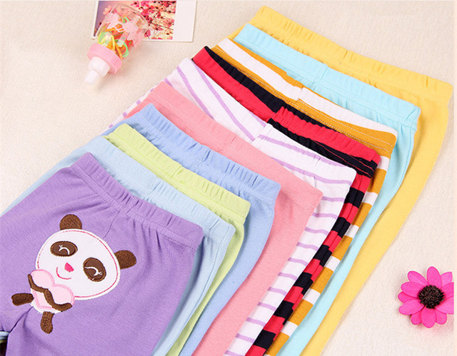 Casual Elastic Waist Cotton Pants for Babies 3