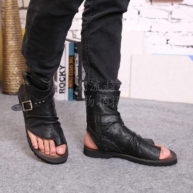 2017 Summer New Designer Men Genuine Leather sandals ...