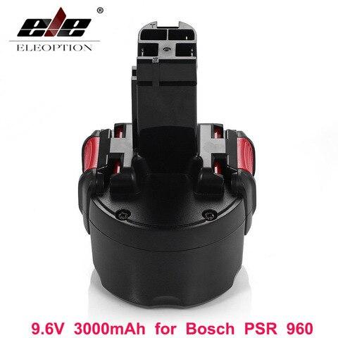 Recarregável de Eleoption Ni-mh para Bosch Bateria Mah Psr 960 2 607 335 272 32609-rt Bpt1041 Bat048 9.6 v 3000