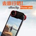Móvil Clip de Lentes de Ojo de Pez Lente de La Cámara 4 en 1 Teléfono Móvil lentes lentes de contacto len macro gran angular para iphone 6 6 s 6 p 6sp
