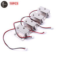 High Quality 10PCS DC12V/0.43A Ultra Compact Locks Free Shipping Cabinet Door Electric Lock Assembly Solenoid
