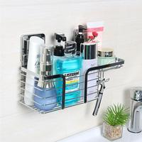 Wall Mount Stainless Steel Bathroom Storage Rack Shaver Hanger Holder Shampoo Cosmetic Perfume Storage Rack Home Organizer