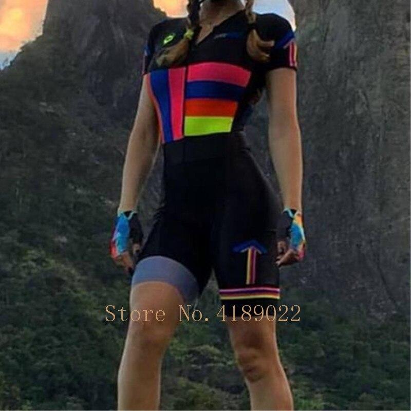 2019 Frenesi femmes maillot de cyclisme Hoge kwaliteit sexy body skinsuit triathlon schaatspak rijden équipe combinaison de ski course speedsuit