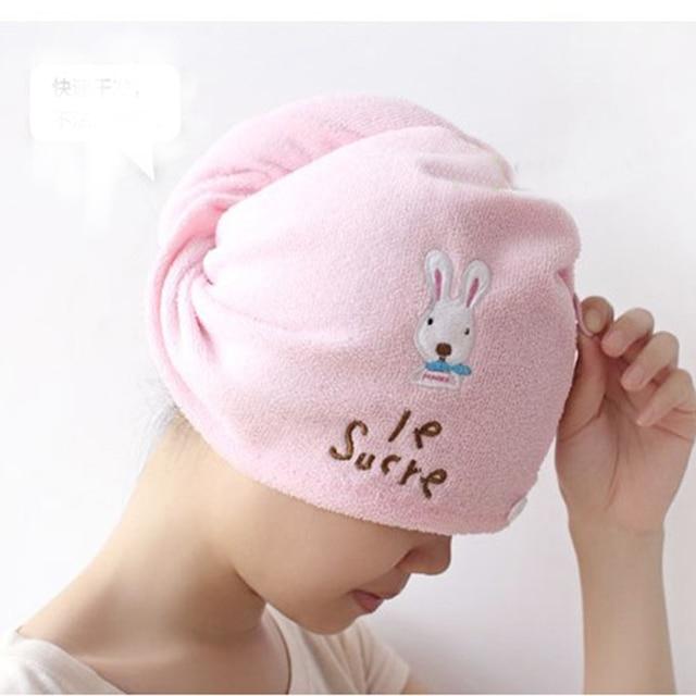 super absorbent reizende haar handtuch turban haartrockner kappe