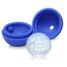 цена на Silicone Blue Wars Death Star Round Ball Ice Cube Mold Tray Desert Sphere Mould DIY Cocktail Ice Cream Tools